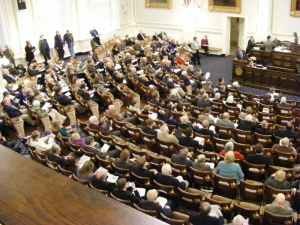 NH House chamber during HB 370 debate