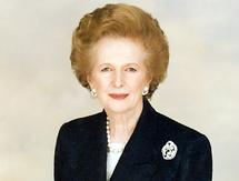 Margaret Thatcher, 1925-2013 (Wikipedia photo)