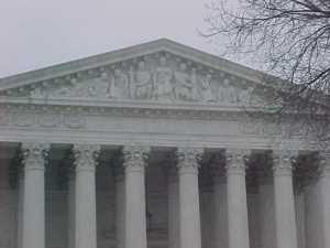 U.S. Supreme Court. Wikipedia Commons photo, public domain.