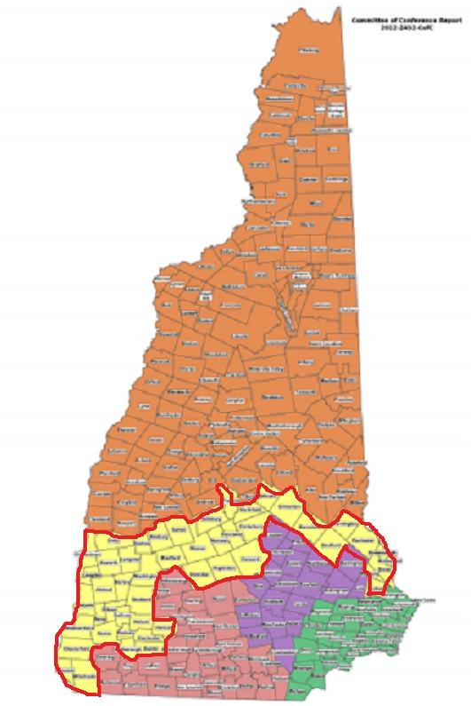 Executive Council district 2, outlined in red